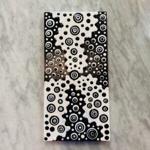 Blob Art; Trypophobia Black & White on Wood Canvas